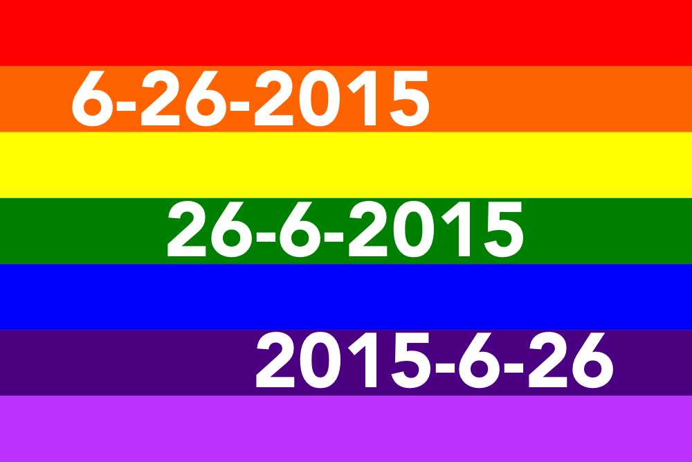 rainbow flag June 26, 2015