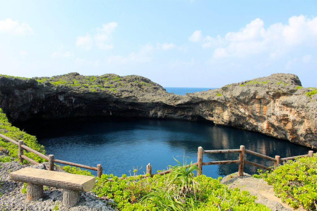 dragon eye pool on Irabu-jima
