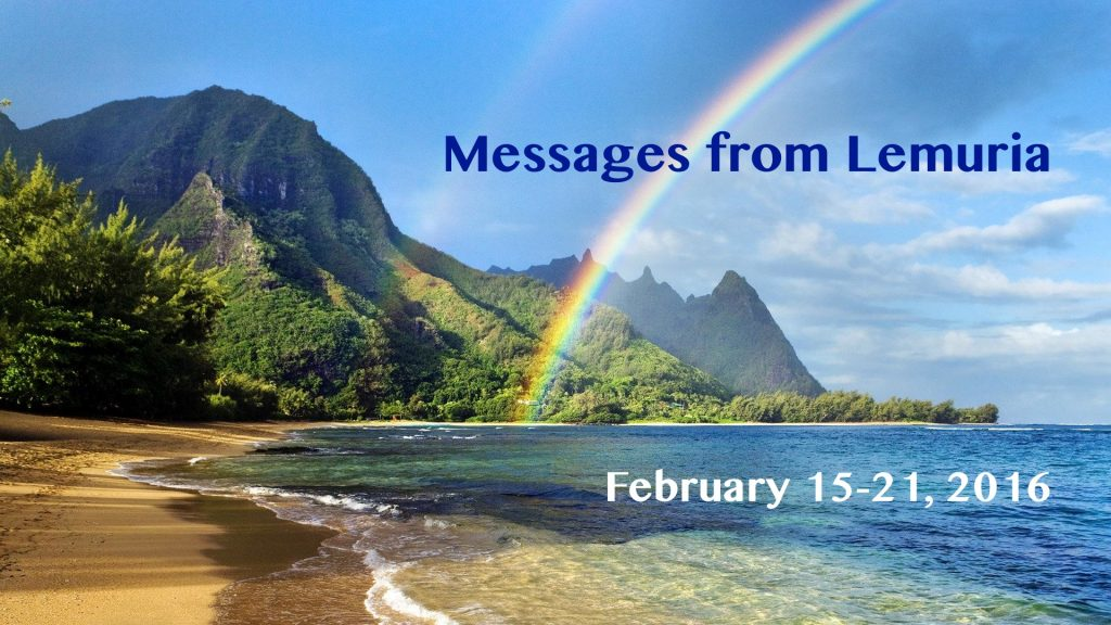 Messages from Lemuria 2016-02-15