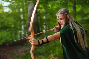 Elven archer with bow and arrow
