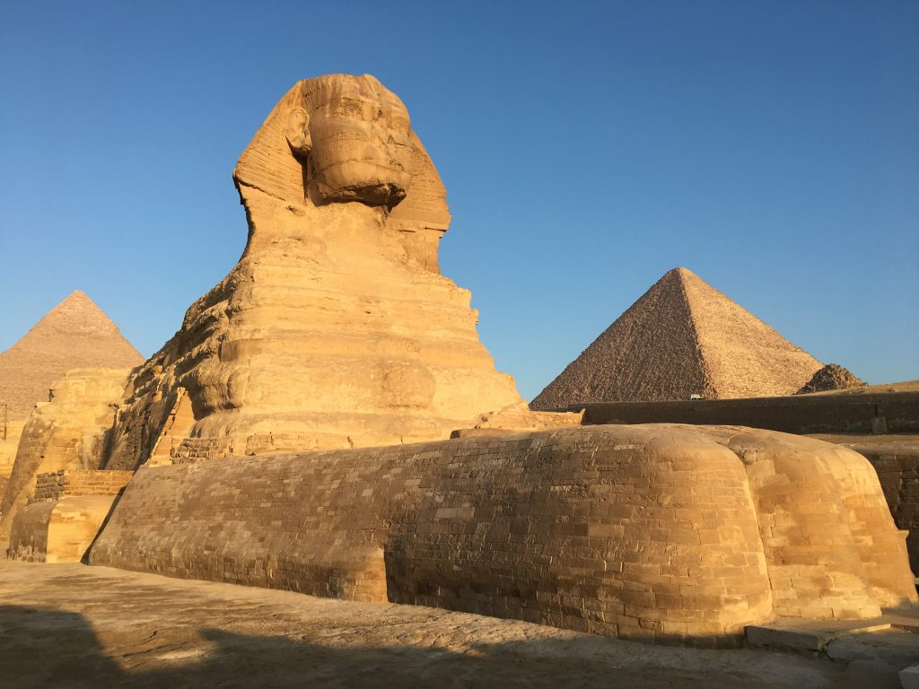 the Great Sphinx at sunrise