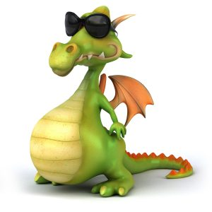 Dragon wearing sunglasses